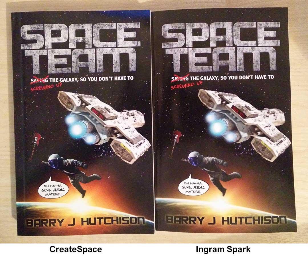 Createspace Vs Ingram Spark print book comparison