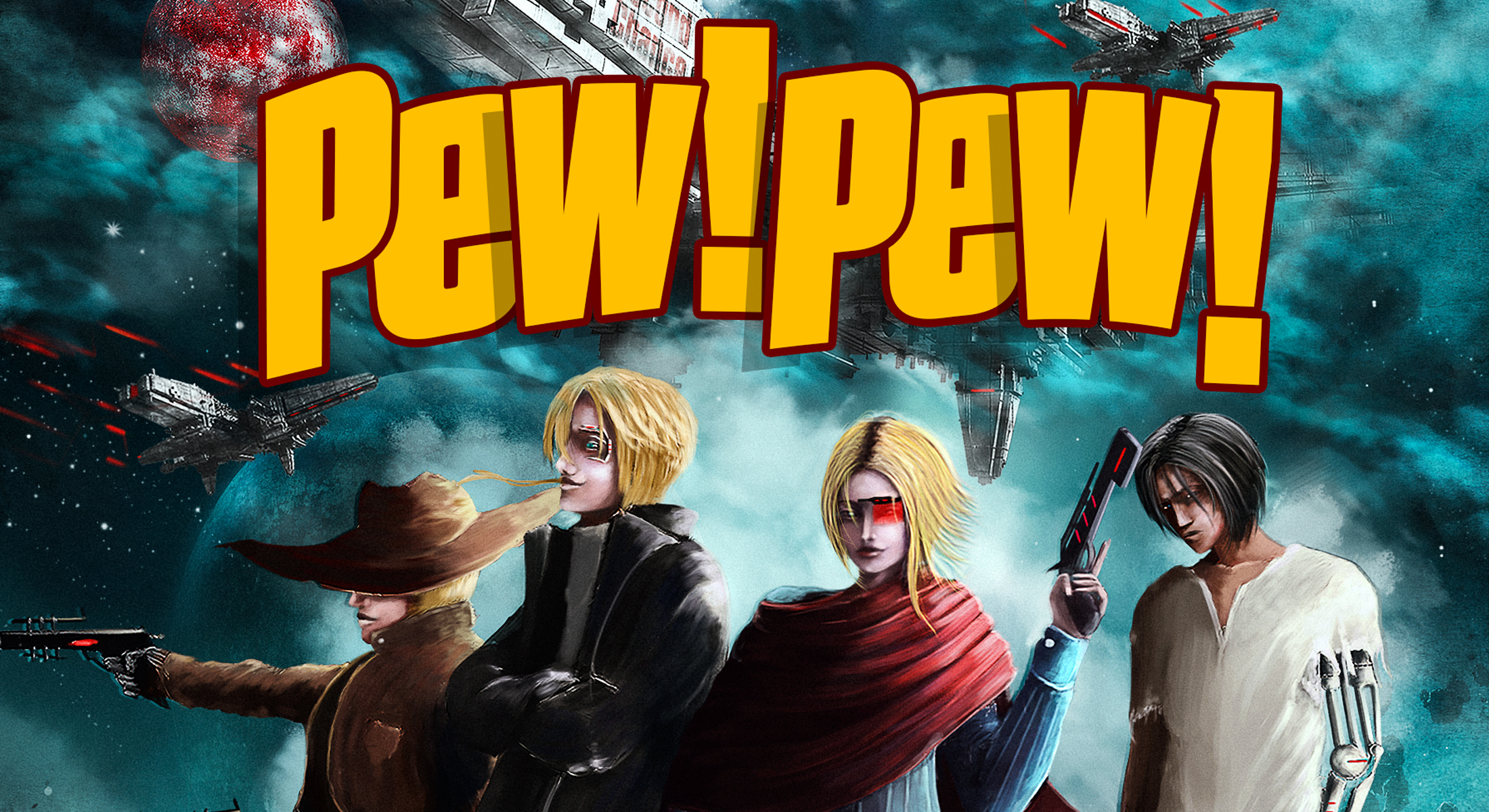 "Exclusive sneak peek at the ""Pew! Pew!"" anthology"